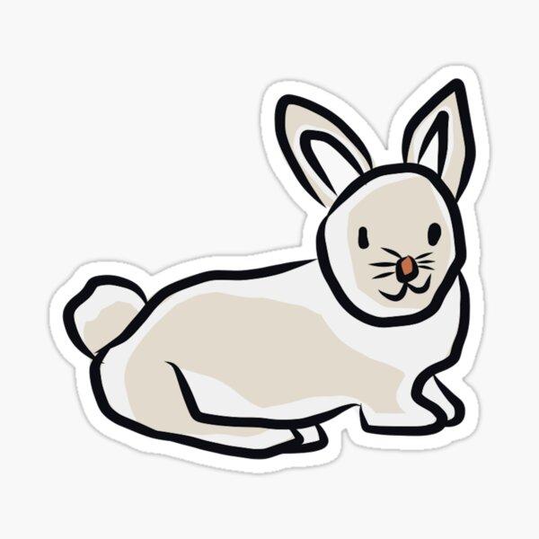 Winter Rabbit individual sticker Sticker