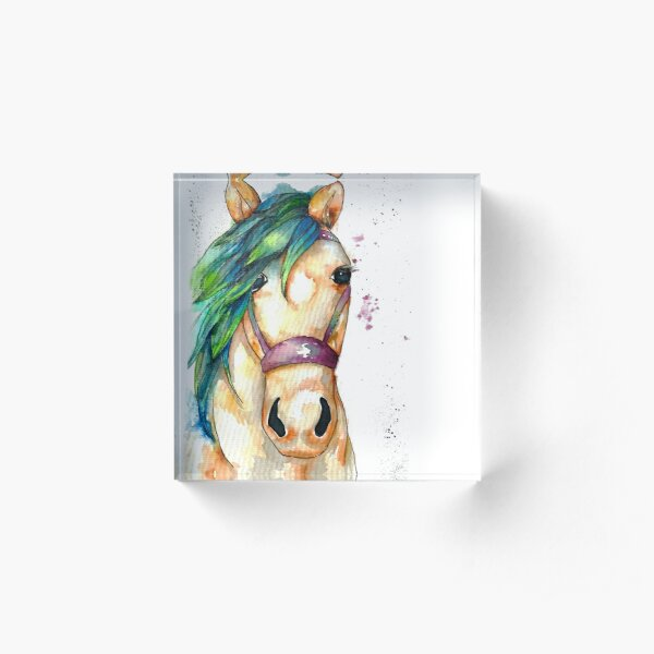 Starr the Horse Acrylic Block