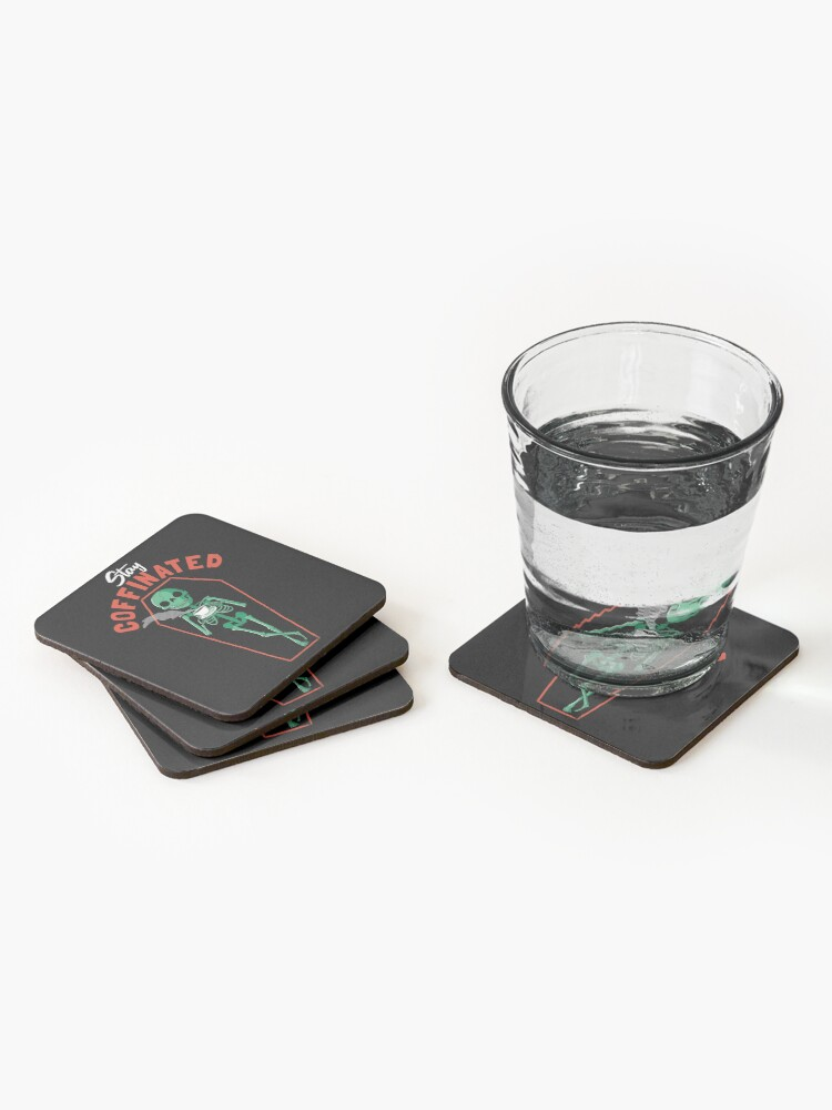 Alternate view of Stay Coffinated Coasters (Set of 4)