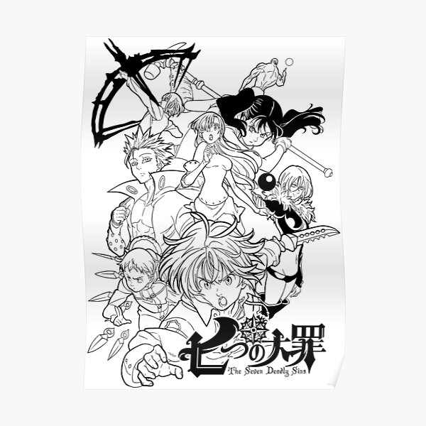 Anime Wallpaper HD: The Seven Deadly Sins Coloring Pages