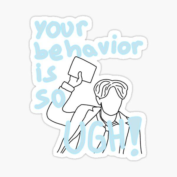 Stray Kids Hyunjin your behavior is so UGH Sticker