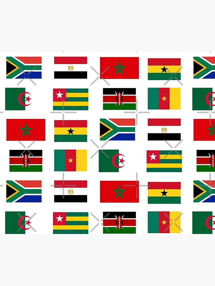 African flags stickers pack by AsKartongs
