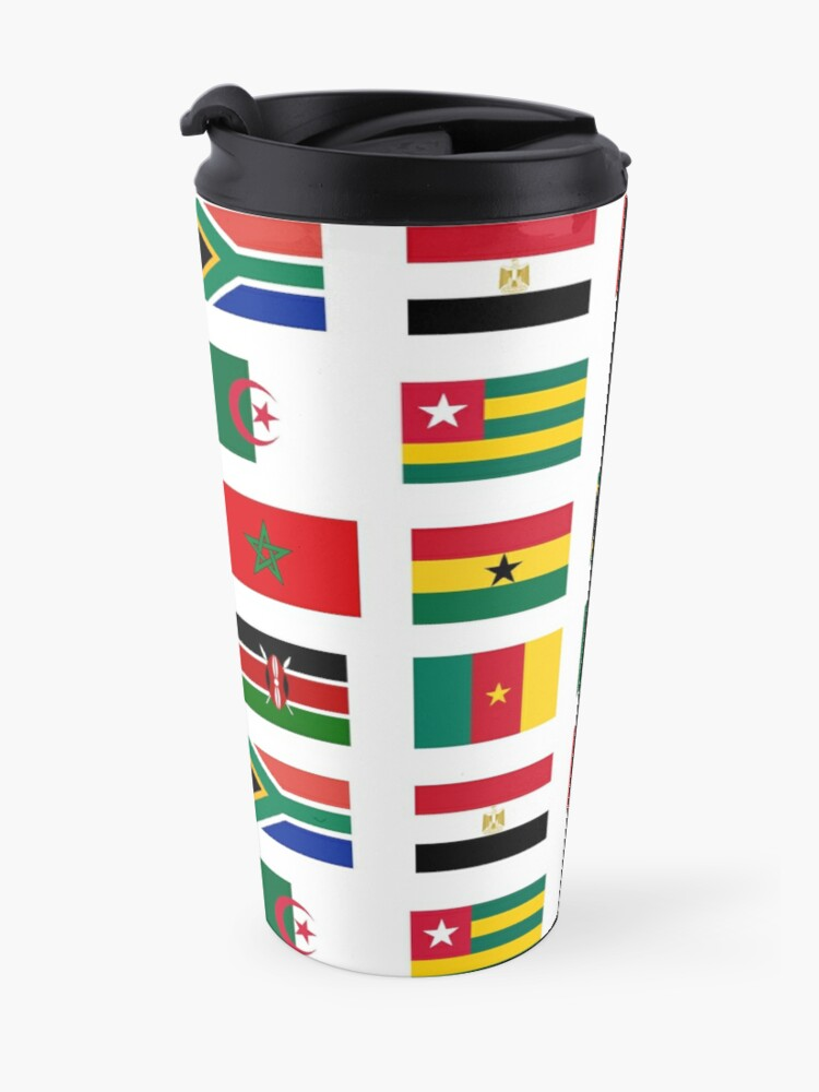 Alternate view of African flags stickers pack Travel Mug