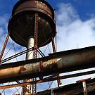 Old Textile Mill Water Tower by DHParsons
