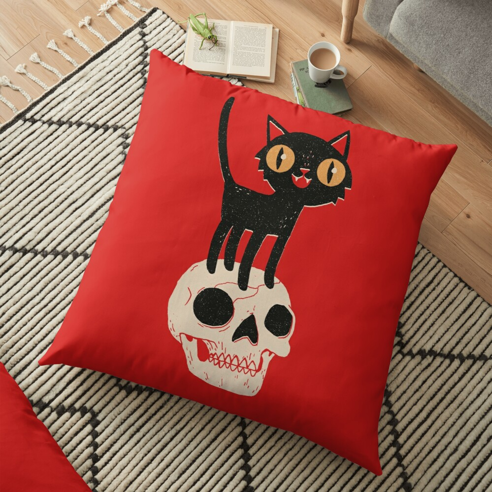 Look What The Cat Dragged In Floor Pillow