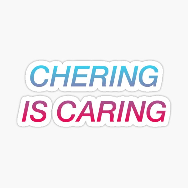 cher chering is caring sharing Sticker