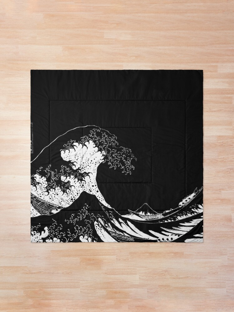 Alternate view of Copy of The Great Wave Off Kanagawa-White Comforter