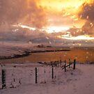 boreal sunrise fae Gulberwick by NordicBlackbird