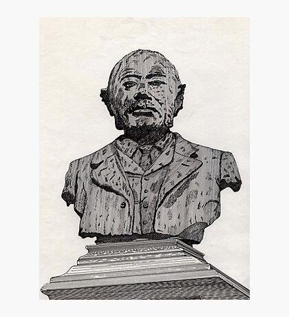 113 - MATTHEW WHITE RIDLEY STATUE - DAVE EDWARDS - INK - 1985 Photographic Print