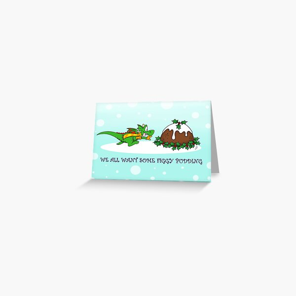 Zookie's Christmas Pudding Greeting Card