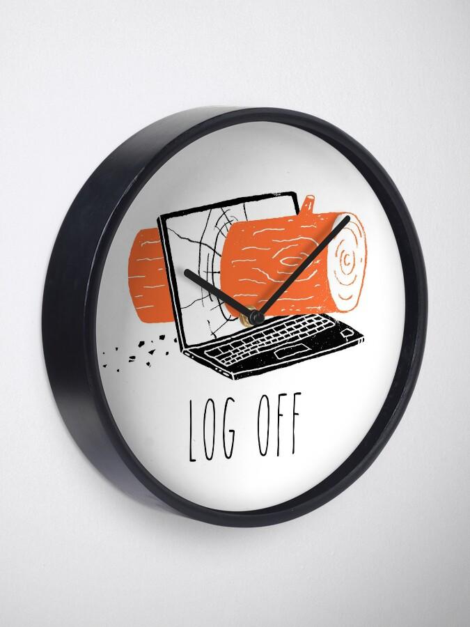 Alternate view of Log Off Clock