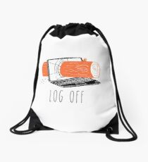 Log Off Drawstring Bag