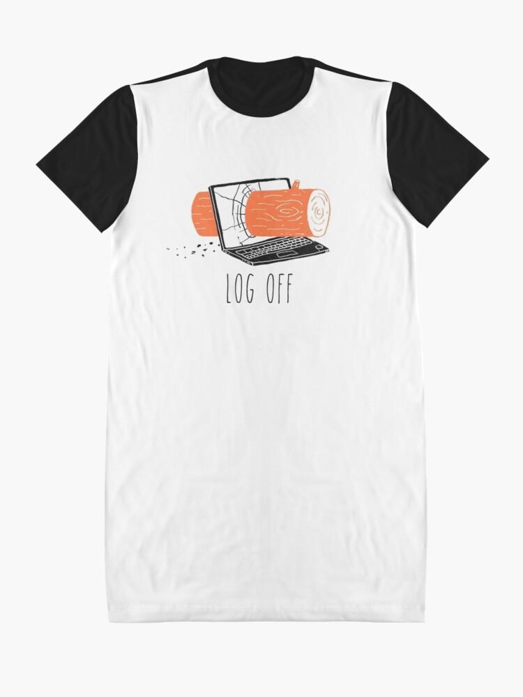 Alternate view of Log Off Graphic T-Shirt Dress