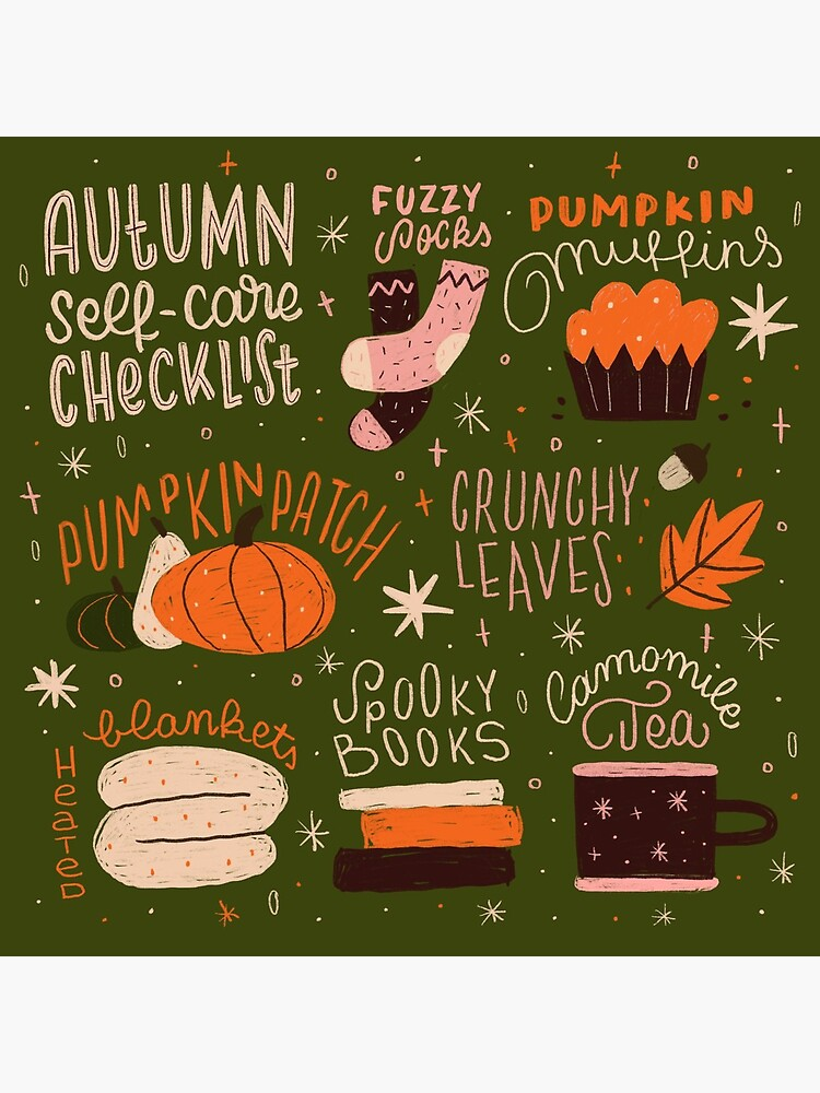Autumn Self-care Checklist by esztersletters