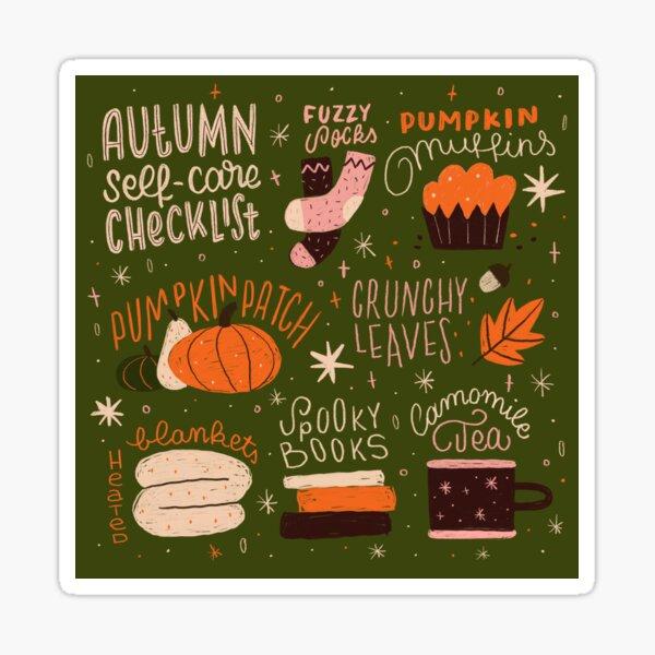 Autumn Self-care Checklist Sticker