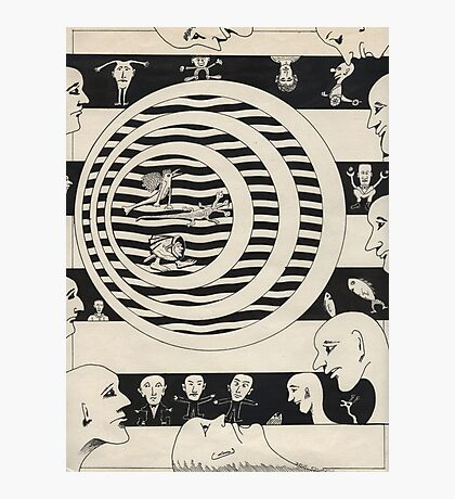 87 - FACES DESIGN - DAVE EDWARDS - INK - 1984 Photographic Print