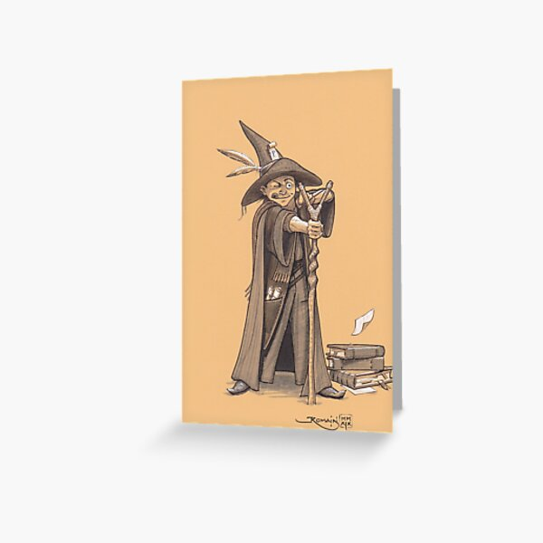 Young rebel wizard Greeting Card