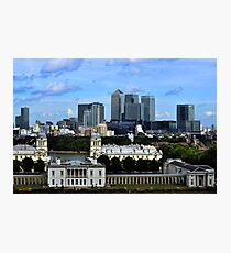 Canary Wharf From Greenwich Photographic Print