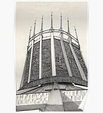 112 - R. C. CATHEDRAL OF LIVERPOOL - DAVE EDWARDS - INK - 1985 Poster