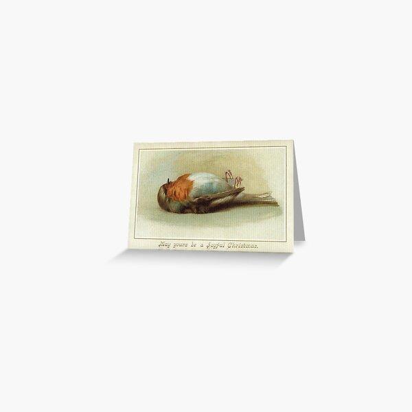 Victorian Dead Bird Christmas Greeting Card