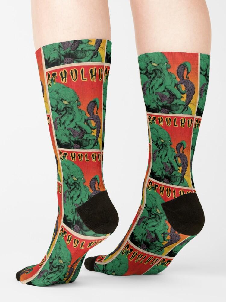 Alternate view of Cthulhu (Vintage) Socks