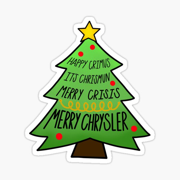 Merry chrysler Sticker