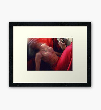 03-15-11:  My Head Has Exploded! Framed Print