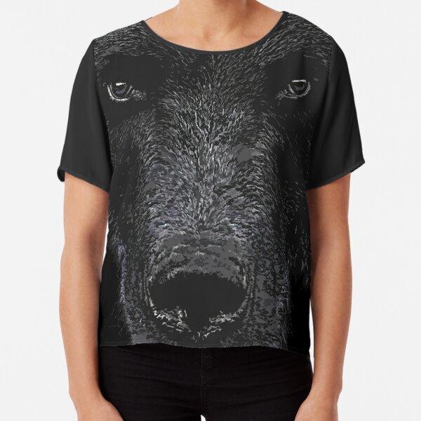 Bear Stare  Chiffon Top