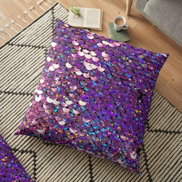 Brilliant Purple Sequins Floor Pillow