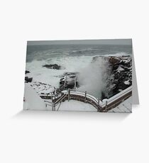 Thunder Hole in a Snow Storm Greeting Card