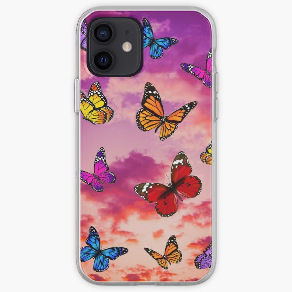 Butterflies in sky iPhone Soft Case