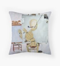Triple portrait-Tribute to Rockwell Throw Pillow