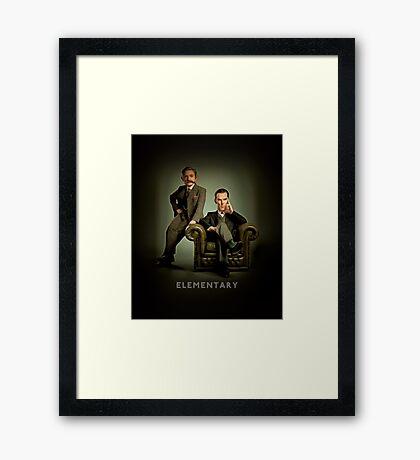 19th Century Sherlock and Watson Framed Print