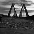 Bridge in Black and White l by Sara Johnson