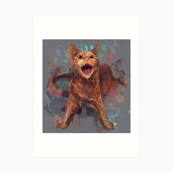 Project Caturday - Phineas  Art Print