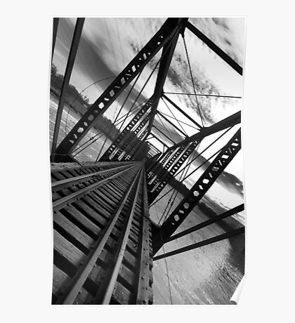 Bridge in Black and White ll Poster