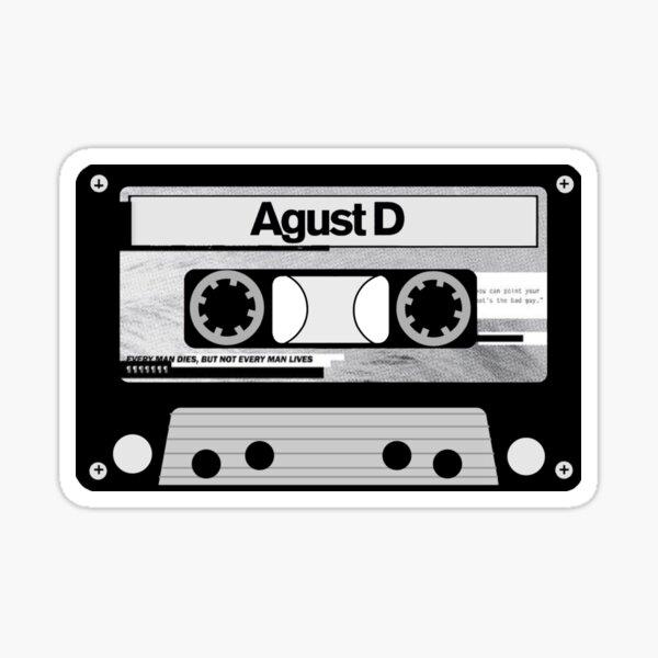 Agust D - Cassette Tape Sticker