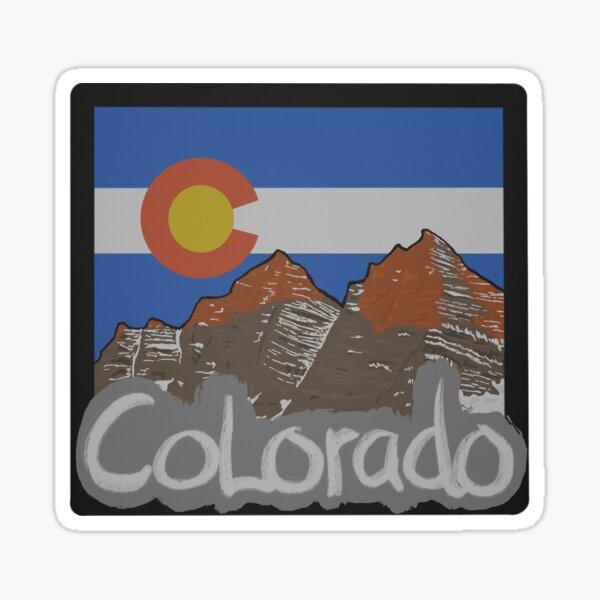 Hand Drawn Colorado Design Sticker