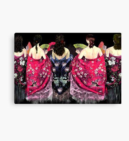 Women in flamenco shawls Canvas Print