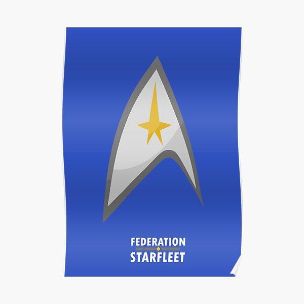 Star Trek - Federation starfleet Poster