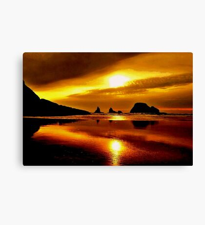 SILHOUETTE SUNSET Canvas Print