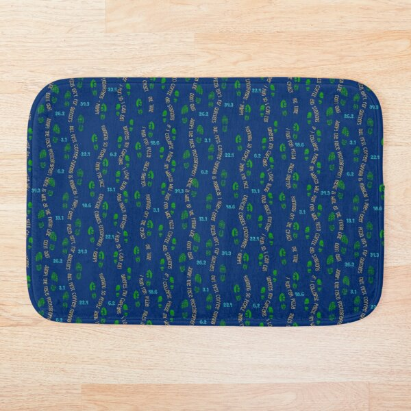 Positive Running Vibes - blue background Bath Mat