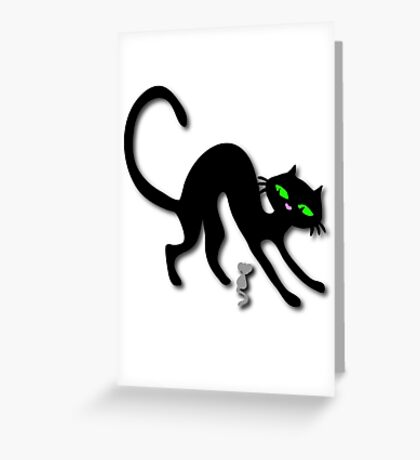 Peep show (s) off retro kitty cat! Greeting Card
