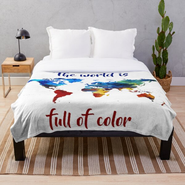 The World Is Full Of Color Throw Blanket