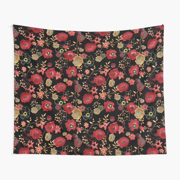 Sally's Flowers Tapestry