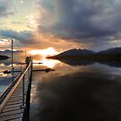Lake Te Anau. South Island, New Zealand. by Ralph de Zilva