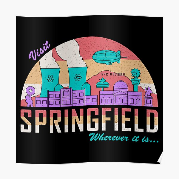 Visit Springfield Poster