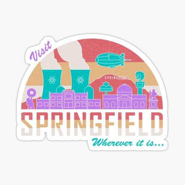 Visita Springfield Pegatina
