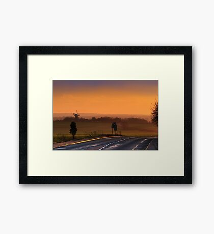The Road to Sarre at dusk Framed Print