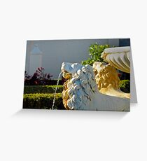 Hamilton Gardens New Zealand  -Italian Renaissance Garden Greeting Card
